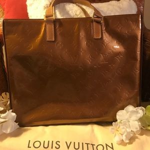 AUTH VINTAGE, LOUIS VUITTON BRONZE COLUMBUS TOTE!